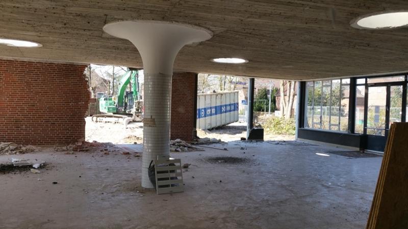 Abriss der Pausenhalle (1)